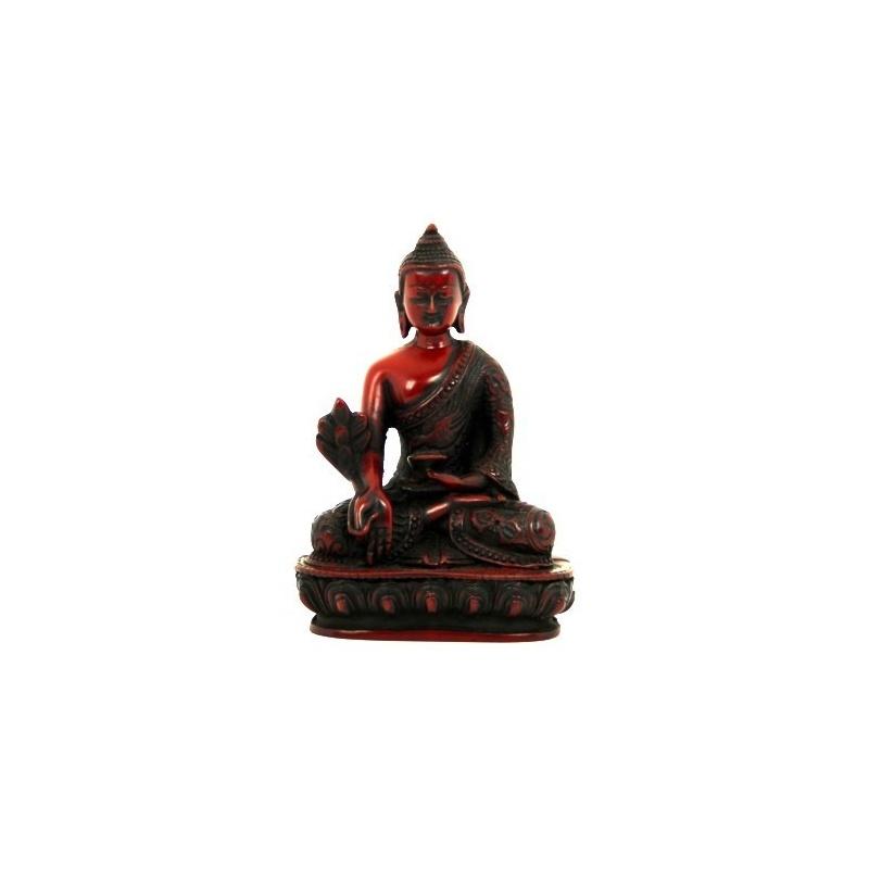 bouddha de la m decine statue tib taine bouddhiste en r sine acajou toit du monde. Black Bedroom Furniture Sets. Home Design Ideas