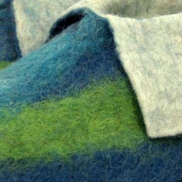 Chaussons enfants vert et bleu 30