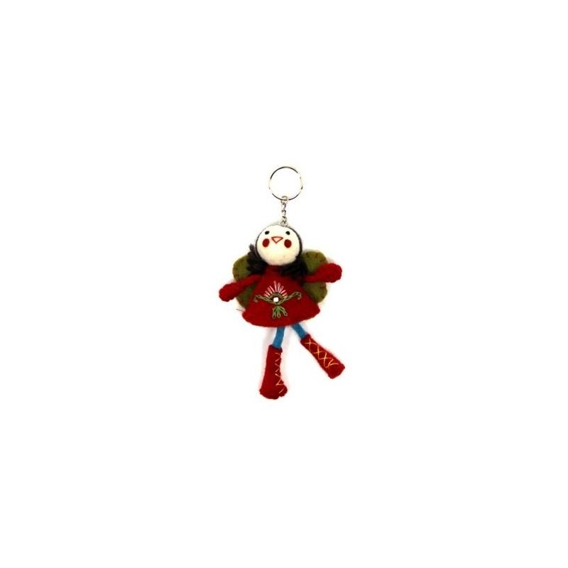 Porte-clés Fée rouge