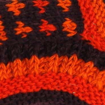 Chaussons de nuit orange et marron