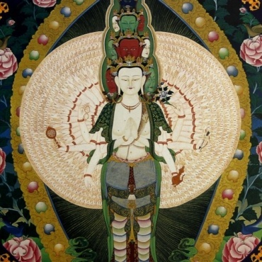Tapis de souris Avalokiteshvara Chenrezi