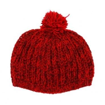 Bonnet mode rouge bordeau chiné