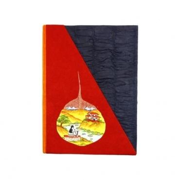 Cahier lokta papier précieux rouge bleu