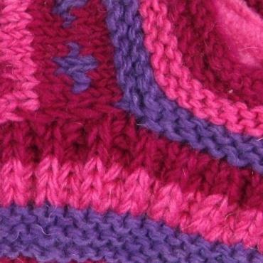Chaussons de nuit en laine fuchsia 38 - 40