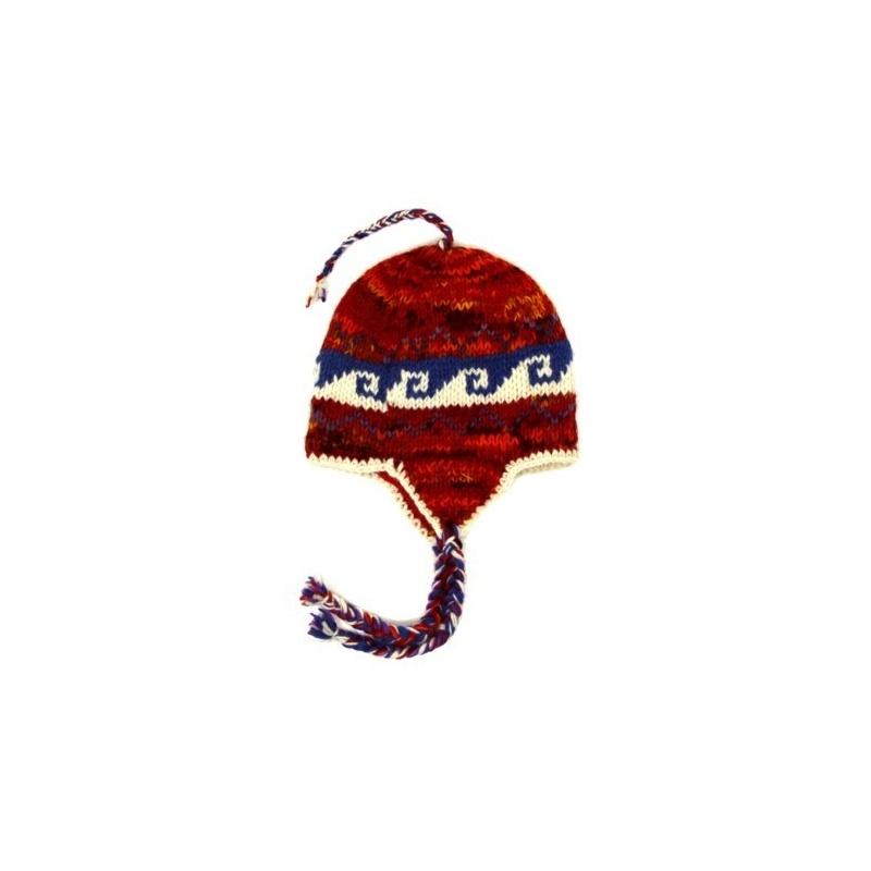 Bonnet cache-oreilles enfants rouge
