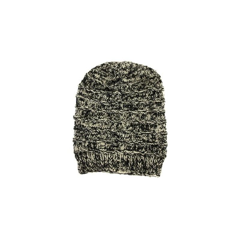 Bonnet  noir chiné en tricot