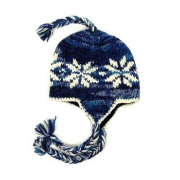 Bonnet cache-oreilles enfants style péruvien