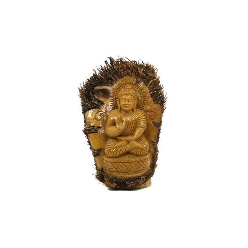 Bouddha de la Protection Statue en bambou