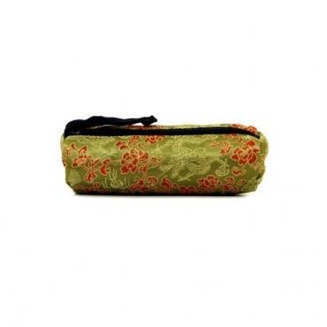 Trousse à crayons tissu tibétain kaki
