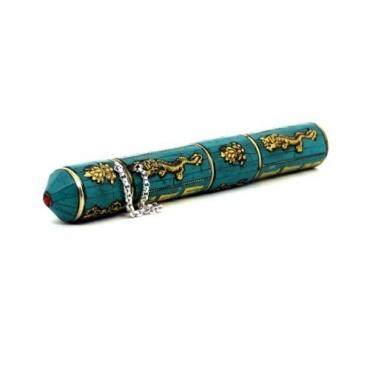 Boîte à encens Tibétaine turquoise