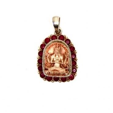 Pendentif Buddha 4 bras - Chenrezig