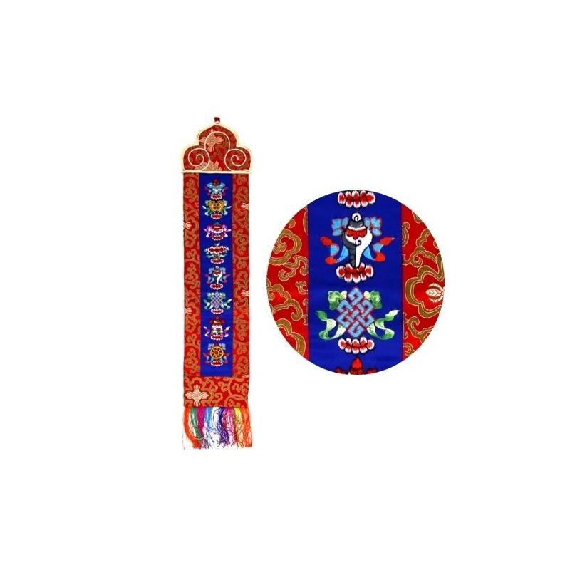 Bannière tibétaine signes porte-bonheur