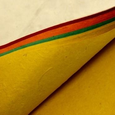 Livret Papier Lokta rouge et multicolore