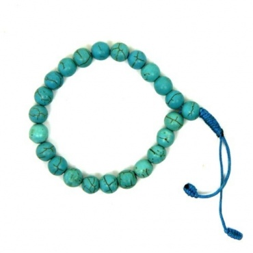 Bracelet  mala bleu turquoise
