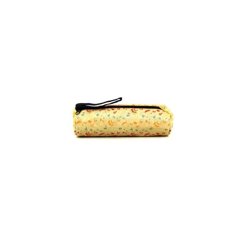 Trousse à crayons tibétaine dorée
