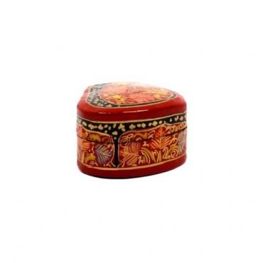 Boîte à bijoux coeur rouge