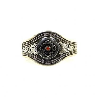 Bracelet Mandala bouddhiste en argent