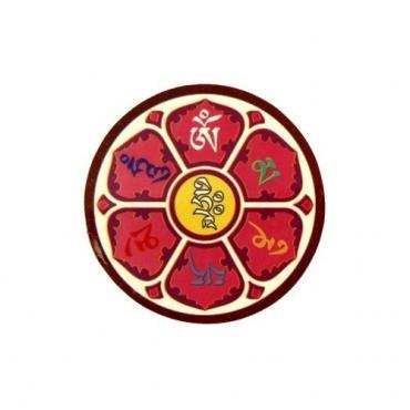 Autocollant Tibetain  Mandala Om