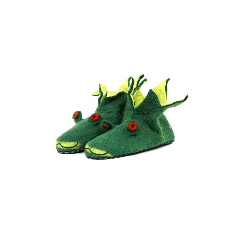design intemporel 4923c 980f3 Pantoufle grenouille ou crocodile vert taille 39 à 42. réalisation soignée