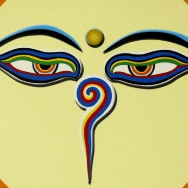 Tapis de souris Yeux de Bouddha Népal