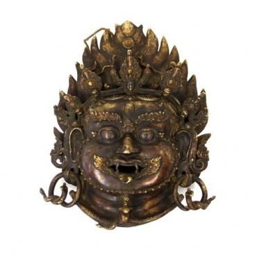 Masque de Mahakala en métal