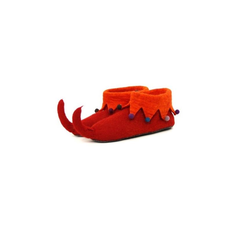 cc06cc0a370f8 Pantoufle lutin rouge doublé orange lumineux taille 35 à 44 ...