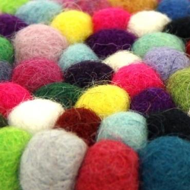 Petit Tapis rond en laine pour bol chantant