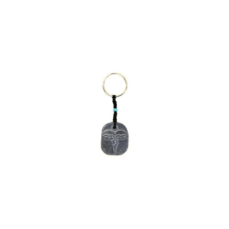 Porte-clé en pierre Yeux Bouddha