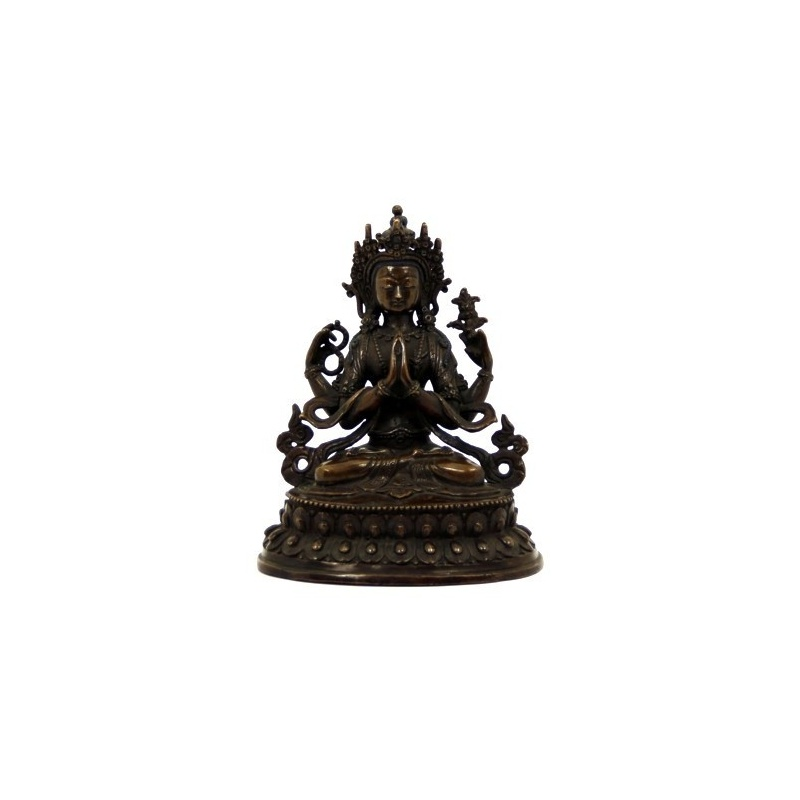 Statue Bouddha à 4 bras Chenrezig
