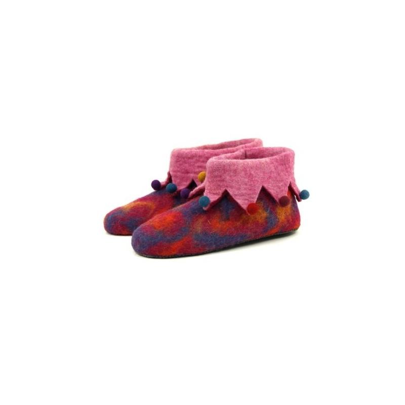 Pantoufles lutin rose et fuchsia 37 à 41
