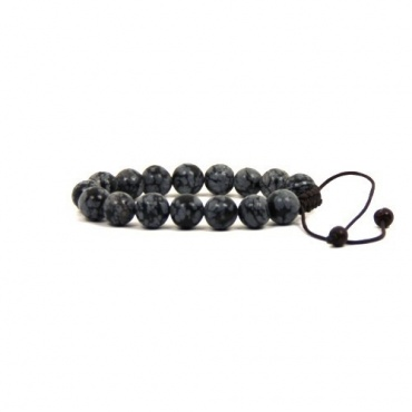 Bracelet Mala en pierre Obsidienne