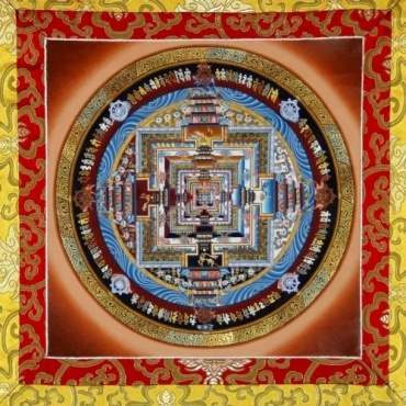 Tangka Peinture Kalachakra Palais des dieux
