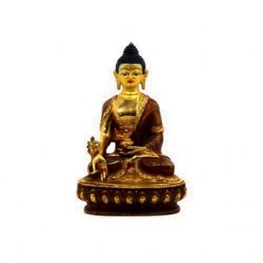 Statue du Bouddha de la Médecine demi-or