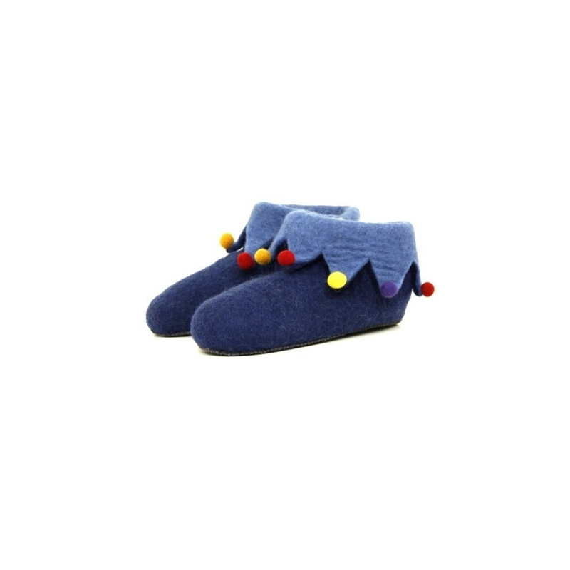 Pantoufles chaussons bleu cobalt 37 à 44