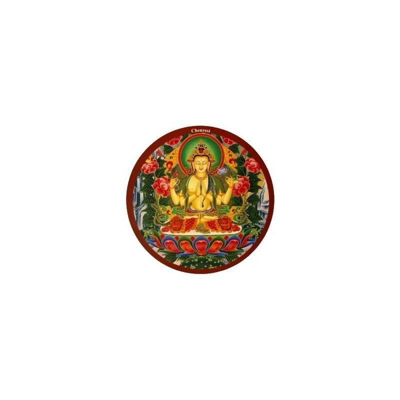 Tapis de souris Bouddha Chenrezi