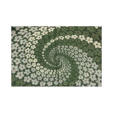 Couverture Châle spirale vert