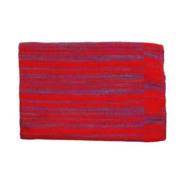 Couverture rouge lignée violet