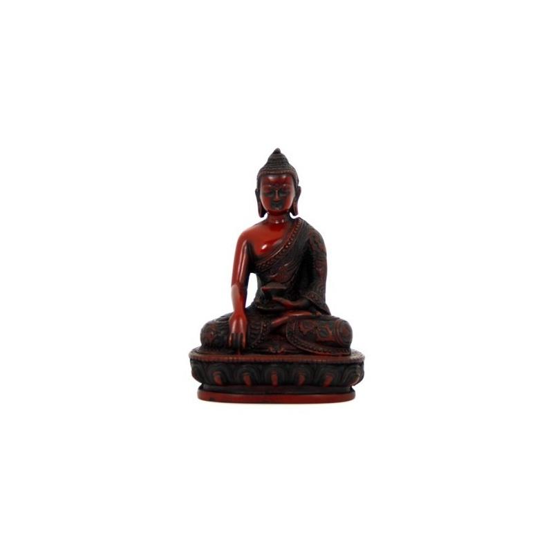 statue bouddhiste du bouddha tib tain shakyamuni gautama bouddha primordial en r sine rouge. Black Bedroom Furniture Sets. Home Design Ideas