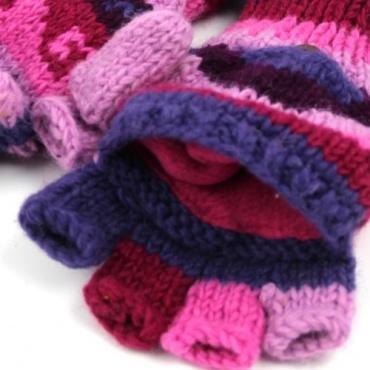 Moufles rose violet