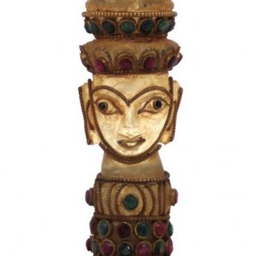 Cloche bouddhiste en cristal de roche