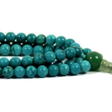 Mala collier perles turquoise