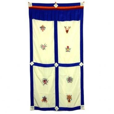 Tenture de porte tibétaine Porte-bonheur