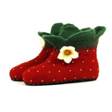 Pantoufle chausson fleur de fraise 22 au 36