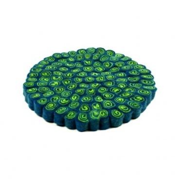 petit tapis rond en laine pour bol chantant petit tapis. Black Bedroom Furniture Sets. Home Design Ideas
