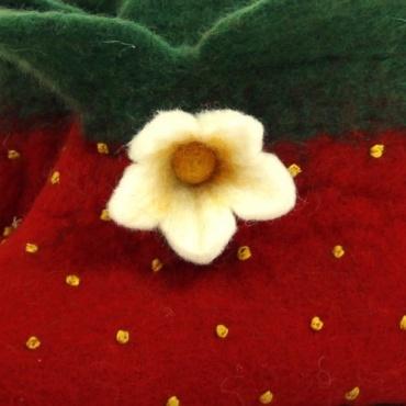 Pantoufles en laine Fleur de Fraise 37 à 40