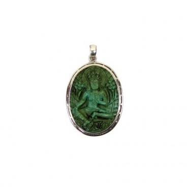 Tara Verte Pendentif en turquoise