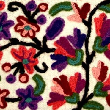 Petit sac multipoche en coton rose fleuri