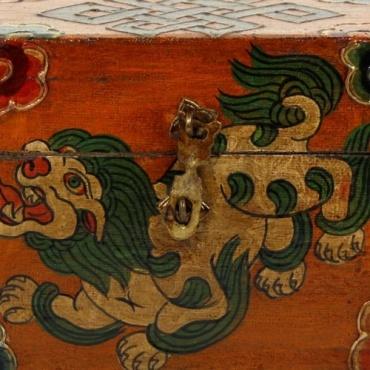 Petit Coffret Himalayen Lion des Neiges