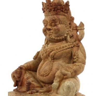 Statue de Dzambhala - Jambhala en bois