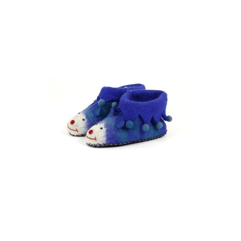 Pantoufles enfants bleu 24 au 35
